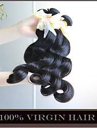 "10 Pcs Lot 8""-30"" Wholesale Unprocessed 6A Brazilian Virgin Hair Body Wave Natural Black Thick Human Hair Weave Bundles"