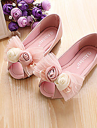 Girls' Shoes Comfort Peep Toe Flat Heel Flats Shoes More Colors available
