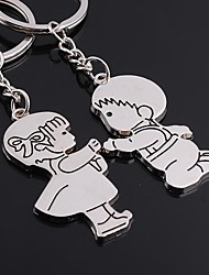 Wedding Keychain Favor [ Pack of 2Piece ] Non-personalised with Cartoon Couples Characters