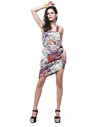 Women's Summer Sexy Sleeveless Sundress Beach Floral Tank Mini Dress