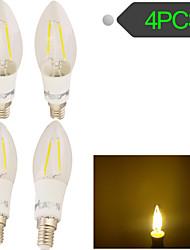 Lampade LED a incandescenza 2 COB YouOKLight E14 2 W Decorativo 160 LM Bianco caldo 4 pezzi AC 100-240 V