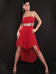 Vestidos ( Negro/Rojo/Blanco/Caqui , Algodón/Poliéster , Sala de Baile/Ropa de Noche ) - Sala de Baile/Ropa de Noche - para Mujer
