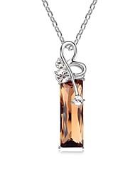 collar corto cupido prácticas plateado con piedras de cristal austríaco 18k champán color mezclado oro cristalizado