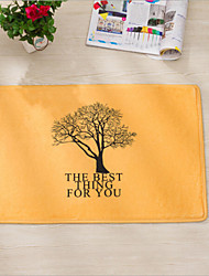 "Bath Mat Modern Flannel Hope Of Life W16"" x L24"""