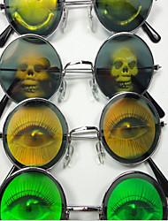 vidros engraçados / Halloween lentes / óculos / desenho ou padrão de vidros coloridos brilhantemente coloridos