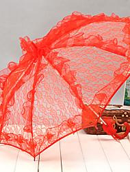 Hochzeit / Strand / Alltag / Maskerade Spitzen Regenschirm Hakengriff Als Bild zeigen ca.53cm Metall / Spitzen ca.58cm