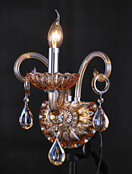 Wall Sconces Crystal Rustic/Lodge Glass,Amber Color