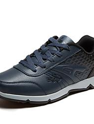 Men's Basketball Shoes Leatherette Black/White/Navy