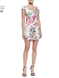 MILANLISA®Women's 2015 New Dress Printing Peony Chinese Wind Dress