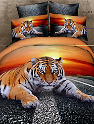 Shuian® 3D Oil Painting Bedding Set Queen Size 100% Cotton 4pcs Comforter Duvet Covers Bed Sheet Flat Sheet Pillowcase