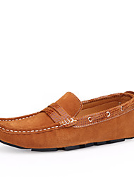 Men's Shoes Casual Leather Boat Shoes Blue/Brown/Burgundy