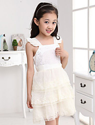 Girl's Sequin Lace Mesh Tiered Princess Dresses