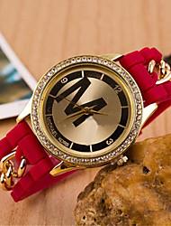 banda de acero ocasional de cuarzo analógico de la mujer z.xuan ver más colores