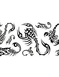 1pc Fashion Waterproof Temporary Tattoos Back/Wrist/Neck Tattoos Small Lizard Body Tattoos(24*10CM)