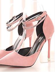 Plataformas / Saltos (Preto/Rosa/Azul Marinho/Vinho) - MULHERES Saltos/Dedo Apontado/Dedo Fechado - Salto Alto - Courino