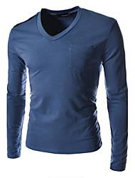 Super Hot Men's Casual V-Neck Long Sleeve T-Shirts
