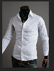 Chemises informelles ( Coton mélangé ) Informel/Travail Col chemise à Manches longues