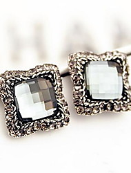 Vintage/Cute/Party/Work/Casual Alloy/Rhinestone Stud Earrings