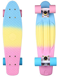 Mini Complete Skateboard Plastic Cruiser Standard Skate Board Trucks Almost 22 Inches/Blue Yellow Pink with Abec-11 Bearings