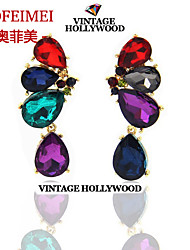 European and American luxury jewelry fresh color crystal butterfly earrings