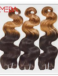 """3pcs / lot 10 """"-30"""" color del pelo virginal brasileño (1b / 27) cuerpo de la onda del pelo"""
