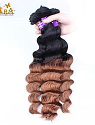 """3st / lot 10 """"-26"""" ombre hår malaysianen jungfru mänskliga hårförlängningar / väva buntar färg 1b30 löst väva mänskliga hårwefts"""