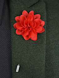 Hochzeitsblumen Knopflochblumen Satin Metall ca.22cm