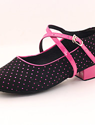 Women's/Kids' Dance Shoes Modern Flocking  Heel Black