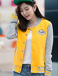 Women's Vintage Casual Cute Medium Long Sleeve Regular Jacket (Cotton)