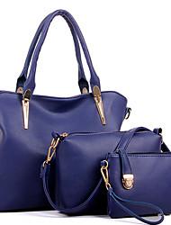 Femme Polyuréthane Formel / Décontracté / Bureau & Travail / Shopping Sac à Bandoulière / Cabas Beige / Bleu / Noir