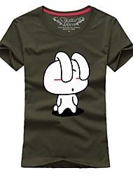 Ms. Couples summer short sleeve T-shirt The long-eared rabbit # 030