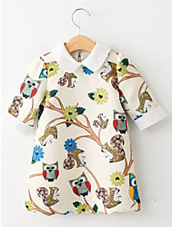 Kid's Casual/Cute Dresses (Cotton Blend)