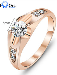 Fashion Wedding Ring 18K Gold Plated Polish Rings for Women Antique Golden Rings Accessories