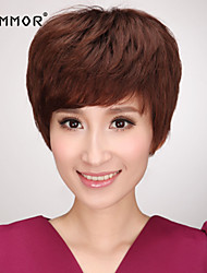 Charming Capless Short Curly Human Hair Wigs