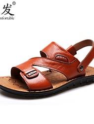 CF ® 2015 summer new men's leather sandals men's sandals Male slippers