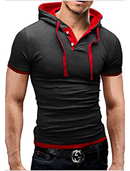H2O Men's Casual Hoodie Short Sleeve T-Shirts
