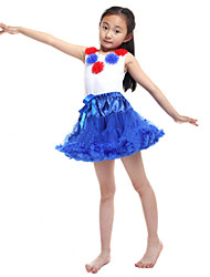 Performance Outfits Women's Performance/Training Chiffon/Cotton Blue Kids Dance Costumes