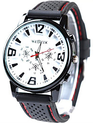 Geneve Men's Silicone band Analog Quartz Sports Watch(Assorted Colors)