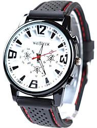 silicone banda relógio analógico de quartzo esportes dos homens Geneve (cores sortidas)