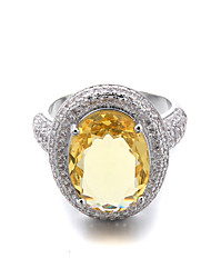 Brass Hollow Ladies CZ Ring(More Colors)