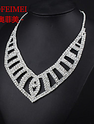 Full diamond bridal jewelry fashion suit Korean angel wings necklace bridal accessories