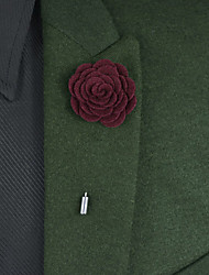 Men's Fashion Pure Color Boutonnieres(More Colors)
