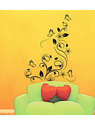 Wall Stickers Wall Decals, Atmospheric Beautiful Butterfly flower PVC Wall Stickers