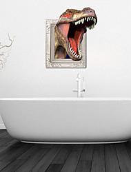 3d stickers muraux stickers muraux, les dinosaures féroces décoration salle de bain murale PVC mural autocollants