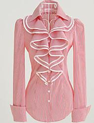 Long Sleeve Ruffled Collar Pinstripe Classic Lolita Blouse