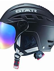 estrella de otoño / invierno de esquí abs / casco del snowboard con gafas de sol
