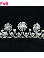 Neoglory Jewelry Imitation Pearl and Austrian Rhinestone Lovely Star Tiara Crown for Lady/Bridal Party/Wedding