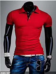 Happyboy Factory direct supply 2015 new men's color short sleeved  shirt male foreign trade basic casual