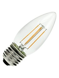 E26/E27 LED Filament Bulbs C35 COB 400 lm Warm White Dimmable / Decorative AC 110-130 V