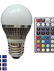 1 pcs SchöneColors® E27 4 W 1X High Power LED Dimmable/32Keys Remote-Controlled/Decorative RGB LED Globe Bulbs AC85-265V